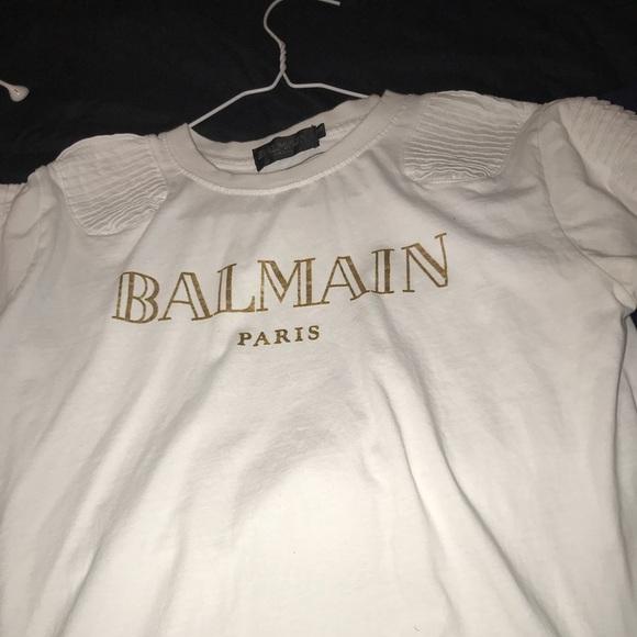 2ed1d4968 Balmain Shirts | Shirt White Gold | Poshmark